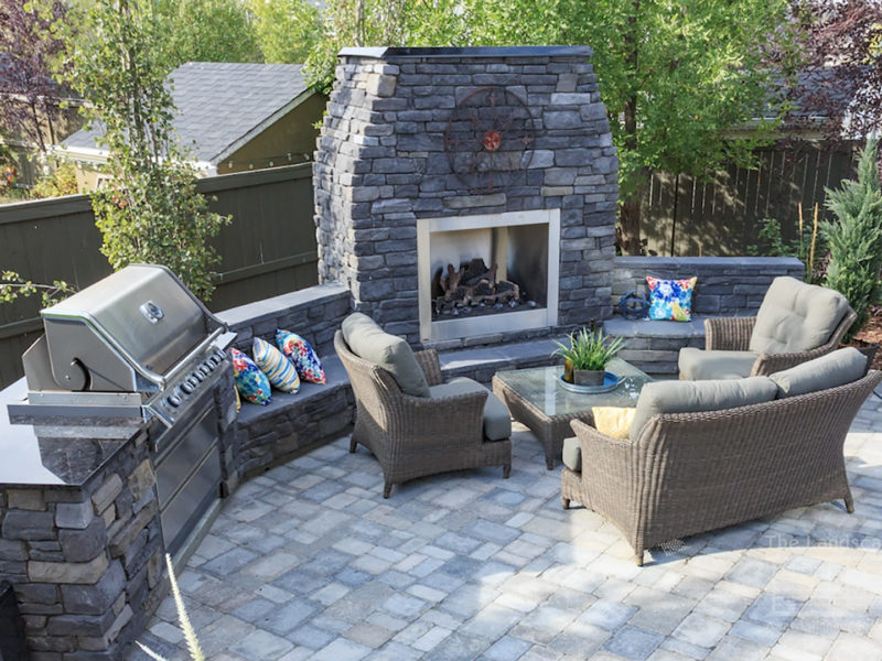 Outdoor Fireplaces And Kitchen Ideas Homes Television